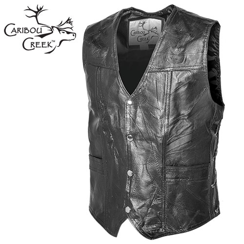 'Blemished Classic Leather Vest'