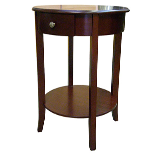 Round End Table - Cherry