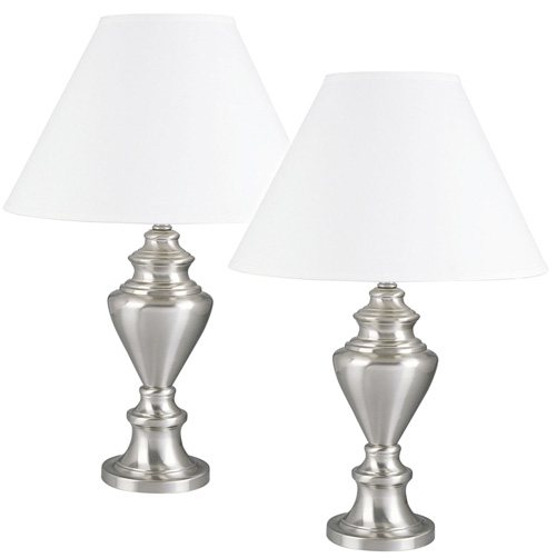 'Pair of Metal Table Lamps'