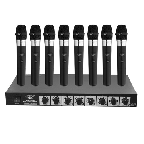'Wireless 8 Microphone Handheld System'