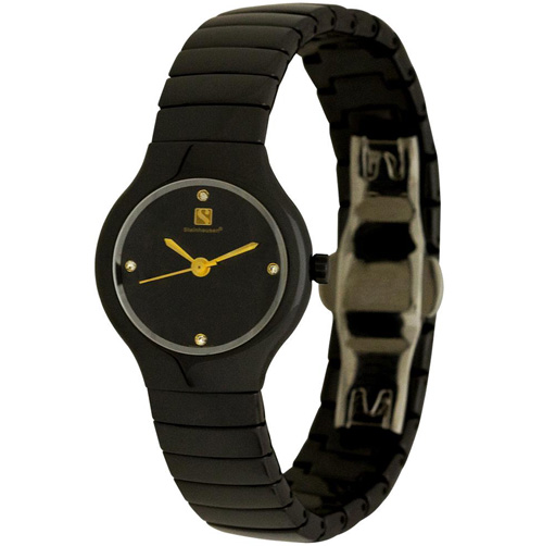 'Orbital Collection Ceramic Swiss Watch Reentry Black - Women's'