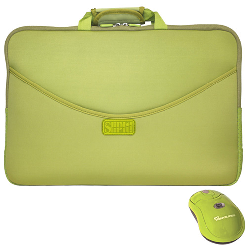 'SlipIt 15 Inch Case with Mighty Mini Wireless Mouse'