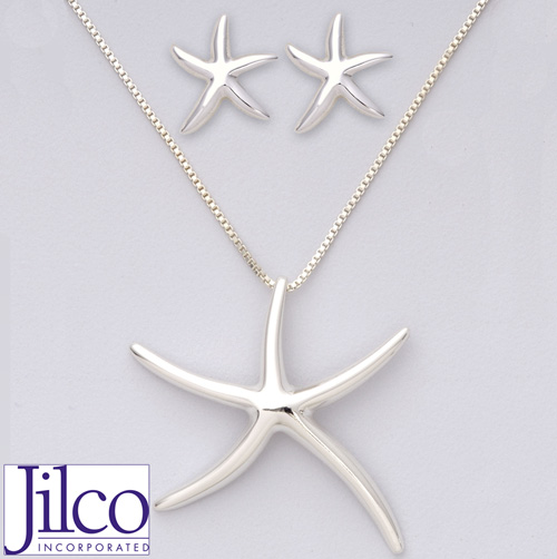 Starfish Earring & Necklace Set