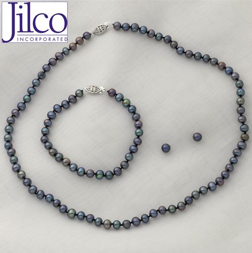 Pearl Bracelet, Earring & Necklace Set