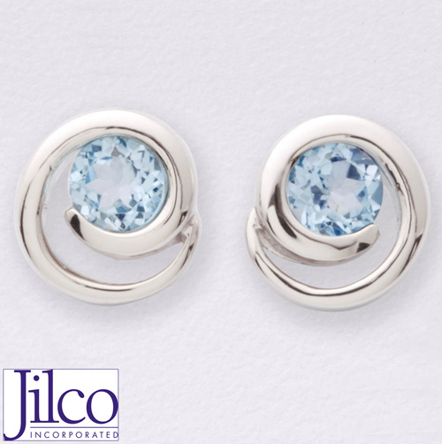 'Blue Topaz Earrings'