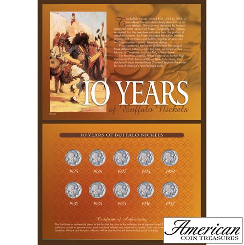 10 Years of Buffalo Nickels
