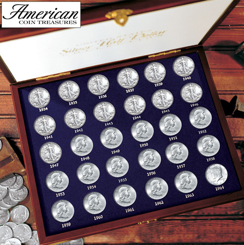 '30 Years of US Mint Half Dollars Each Struck of .900 Fine Silver'