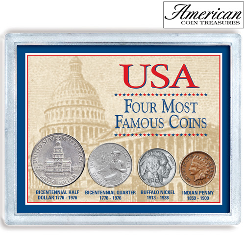'USA Four Most Famous Coins'