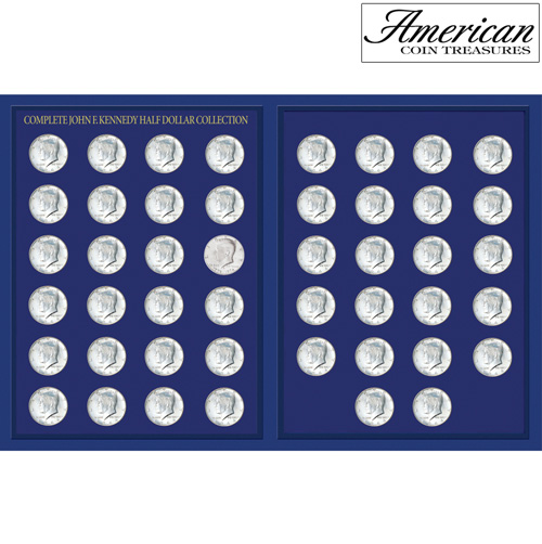 'JFK Half Dollar Collection in Deluxe Portfolio'