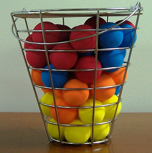 '48 Piece Bucket of Foam Practice Balls'