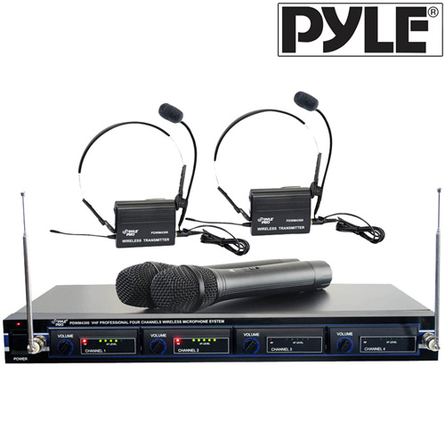 '4 Mic VHF Wireless Rack Mount'
