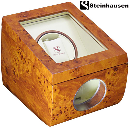 'Burlwood Single Watch Winder'