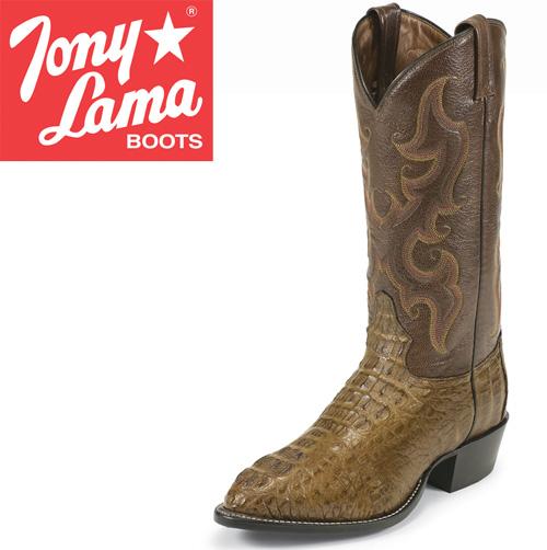 'Tony Lama Green Caiman Boots'