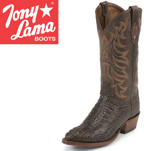 'Tony Lama Chocolate Caiman Boots'
