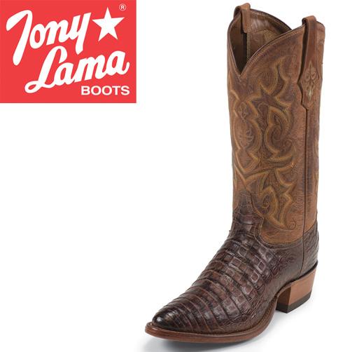 'Tony Lama Cognac Caiman Boots'