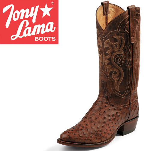 'Tony Lama Chocolate Ostrich Boots'
