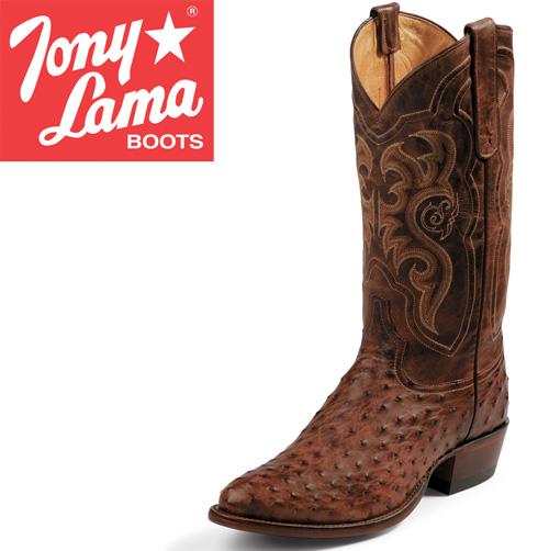 'Tony Lama Chocolate Ostrich Boots'