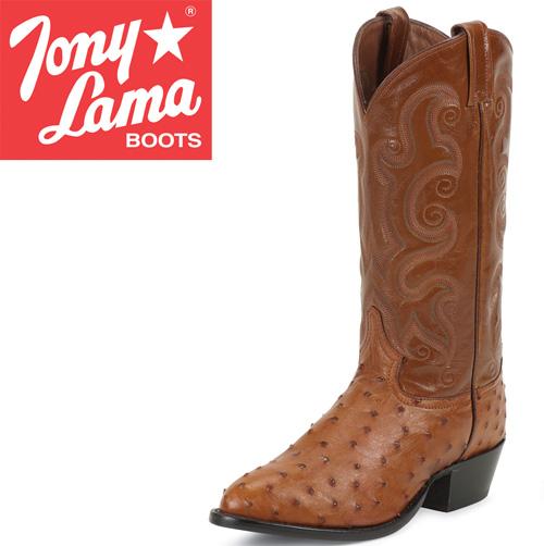 'Tony Lama Peanut Brittle Full Quill Ostrich Boots'