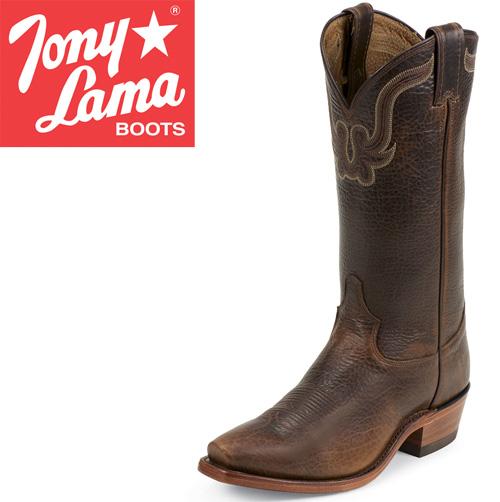 'Tony Lama Bison Skin Boots'