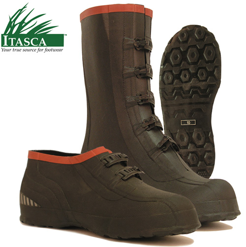 'Itasca Mud Walker 5 Buckle Rubber Overshoes'