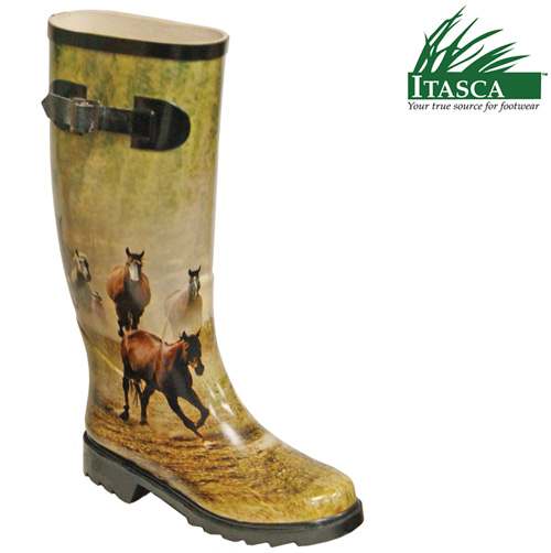 'Itasca Women's Misty Pony Rubber Boots'