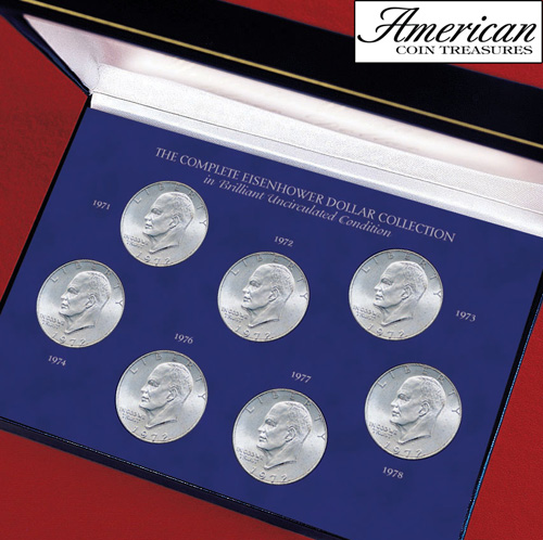 'Complete Eisenhower Dollar Collection in Brilliant Uncirculated Condition'