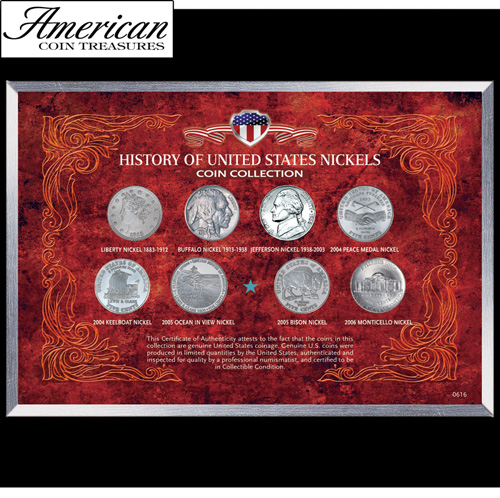 'History of United States Nickels Coin Collection'