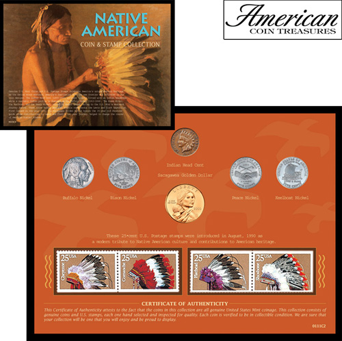 'Native American West Coin & Stamp Collection'