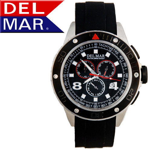 'Del Mar® Rugged Swiss Chronograph Watch'