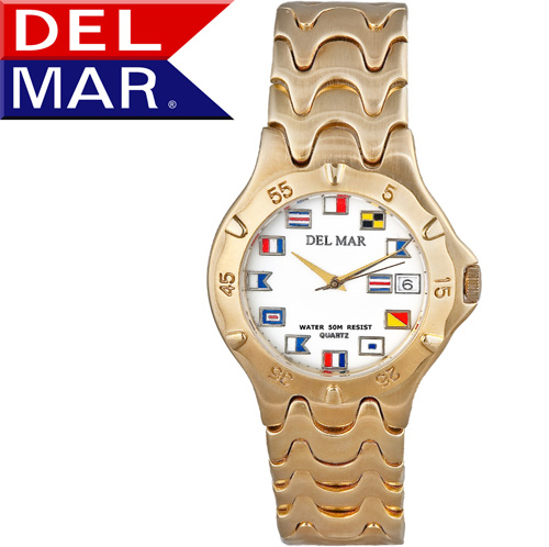 'Del Mar® Men's Nautical Dial Watch'