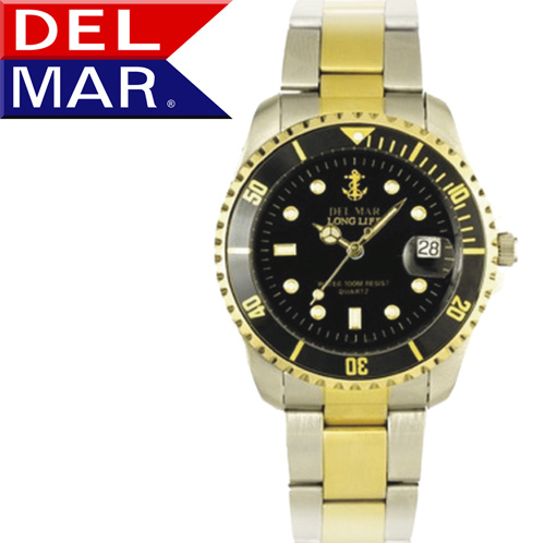 'Del Mar® Men's Anchor Dial Watch'