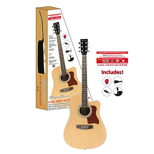 'Full Size Cutaway Acoustic Guitar Pack'