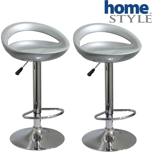 'Chrome Bar Stool Set'