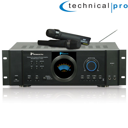 'Integrated Amp with 2 Wireless Mics'