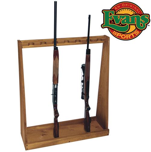Wooden Standing Rifle Rack