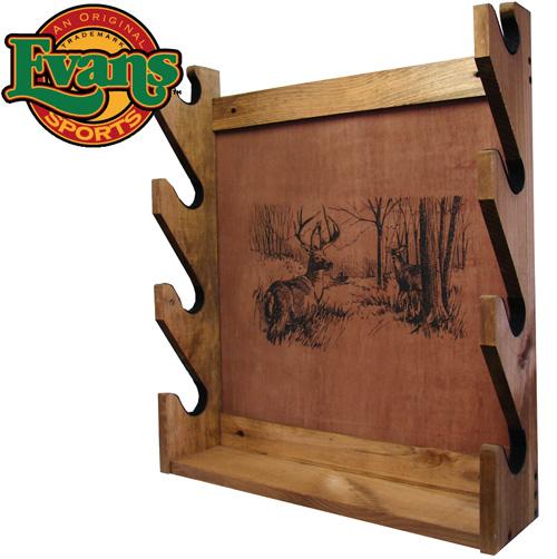 'Wooden 4-Gun Rack'