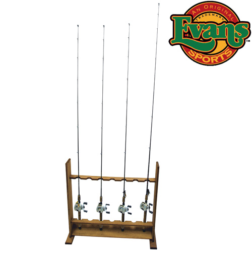 'Wooden Standing Rod Rack'
