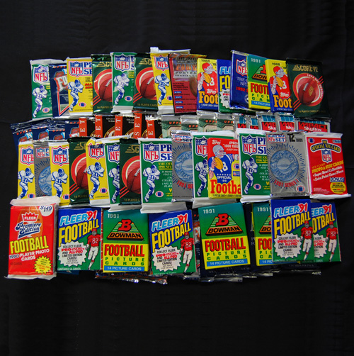 1000 Unsearched Football Cards