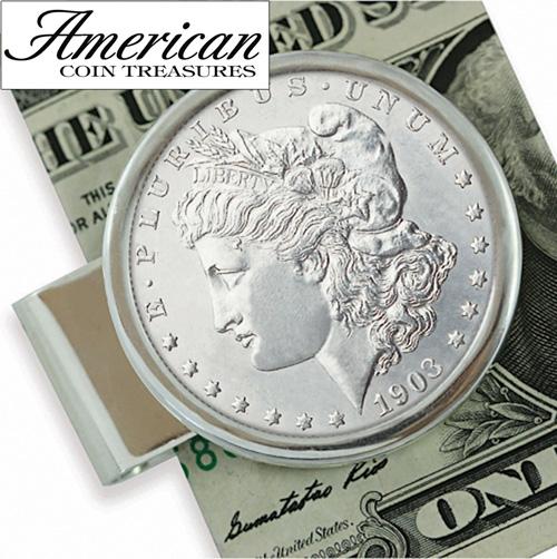 Sterling Silver Morgan Dollar Moneyclip