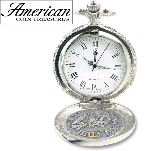 'Seated Liberty Silver Half Dollar Pocket Watch'