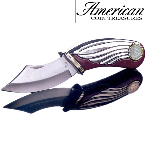 'Seated Liberty Silver Dime Pocket Knife'