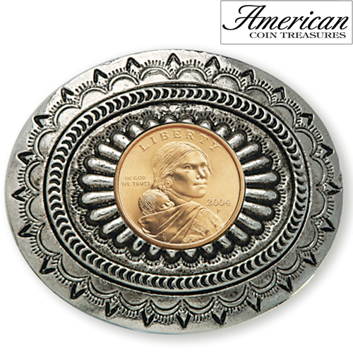 'Sacagawea Golden Dollar Belt Buckle'