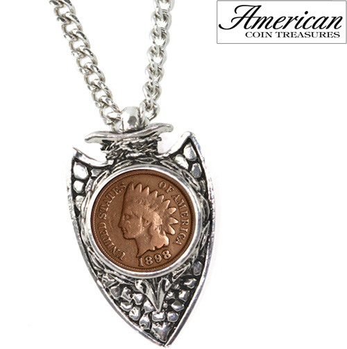 '1800s Indian Cent Arrowhead Men's Pendant'