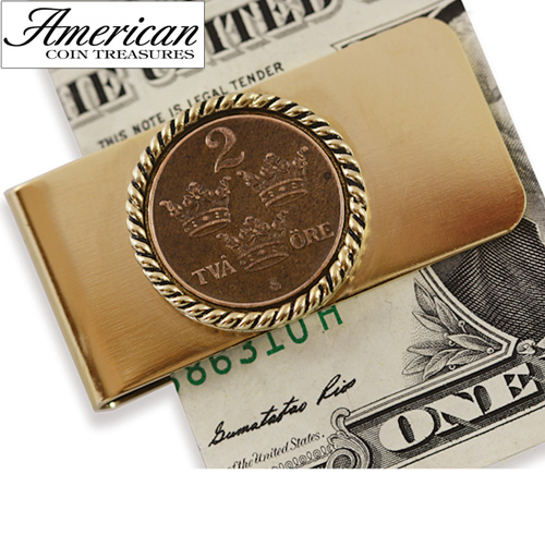'Swedish Coin ORE Crown Money clip'