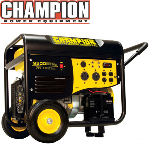'7500/9500 Watt Portable Gas Generator-CARB'