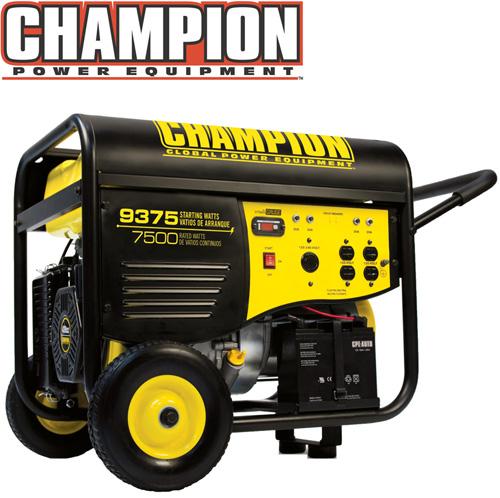 '7500/9375 Watt Portable Gas Generator-CARB'