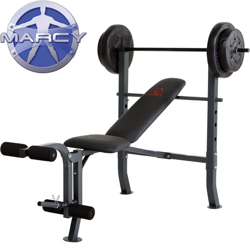 'Marcy Standard Bench with 80 Lb. Weight Set'