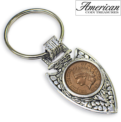 Civil War Coin Arrowhead Key Ring