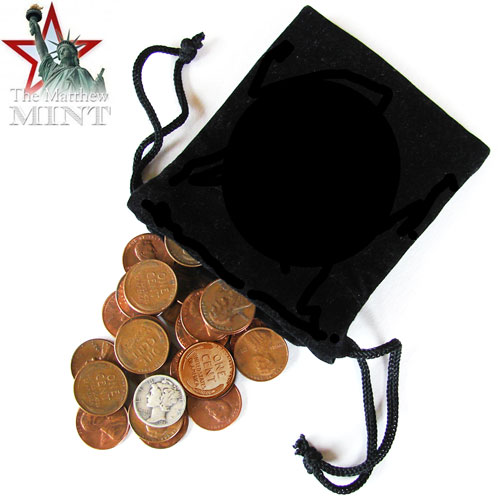 50 Random Coins with Mercury Dime
