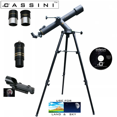 'Tracker Refractor Telescope Kit - 800 x 72'